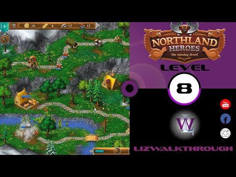 Northland Heroes - Level 8 walkthrough - The Missing Druid  