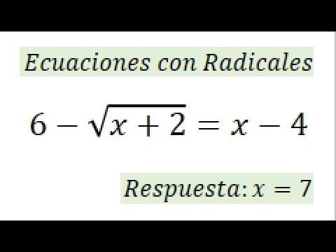 Ecuaciones De Segundo Grado Con Radicales Soluciones Extrañas Youtube