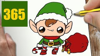 HOW TO DRAW A ELF CUTE, Easy step by step drawing lessons for kids