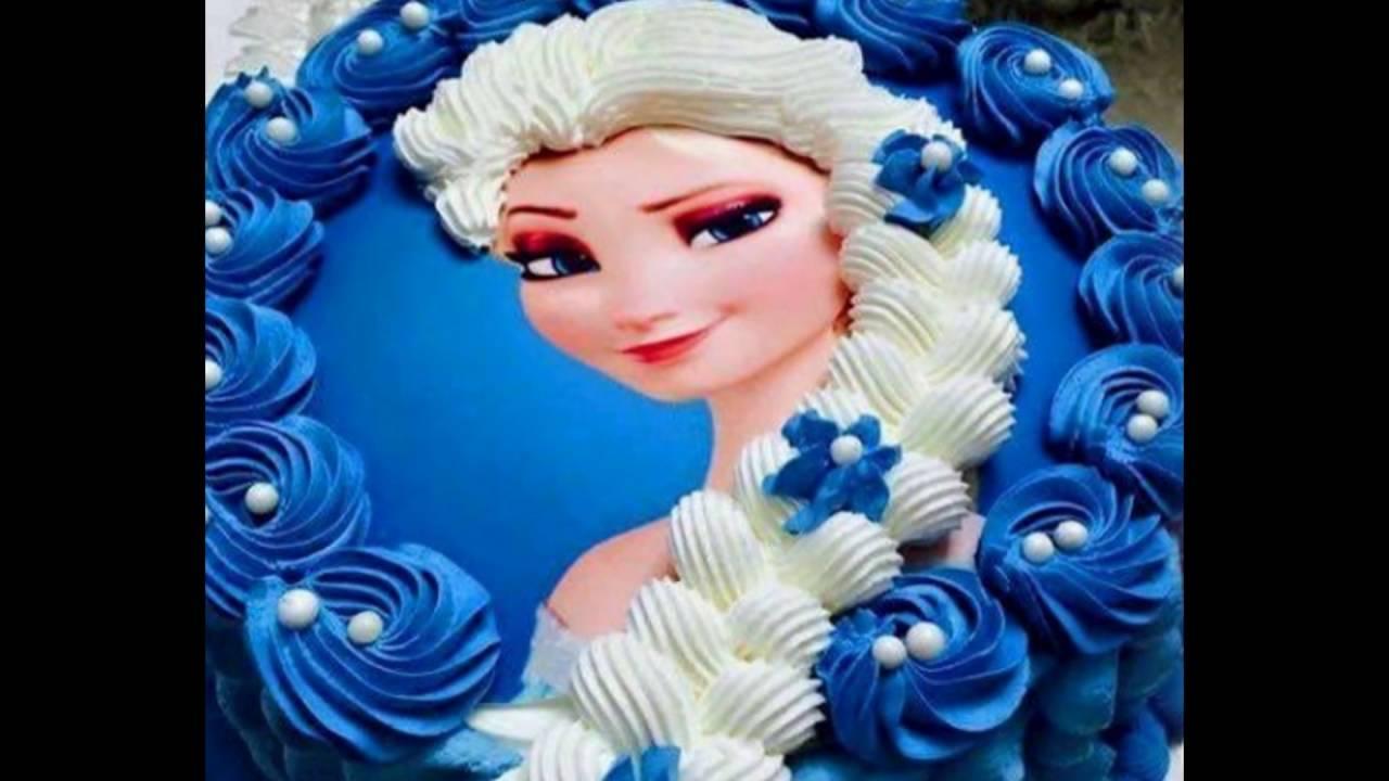 Beberapa Hiasan Kue Elsa Frozen Yang Cantik YouTube