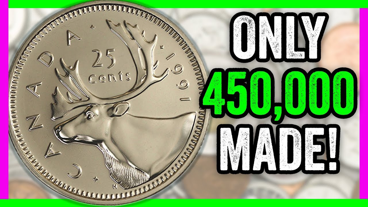 ~~ 1991 ~~  5 Cent KEY DATE CIRCULATED KEY DATE Canada Nickel