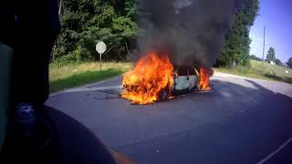 BVFD - Working Vehicle Fire *Helmet Cam**Go Pro*