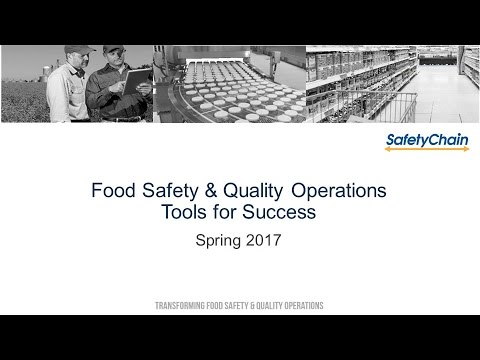 Food Safety & Quality Operations: Technology Tools For Success April 2017