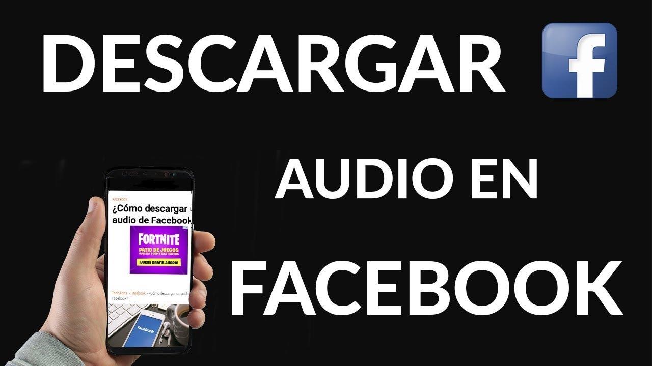 descargar audio de facebook live