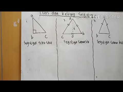 Luas dan keliling segitiga siku-siku, sama kaki, sama sisi ...