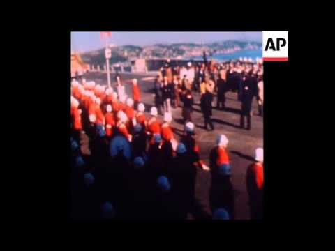 SYND 30/10/73 THE OPENING OF THE BOSPHORUS BRIDGE IN ISTANBUL