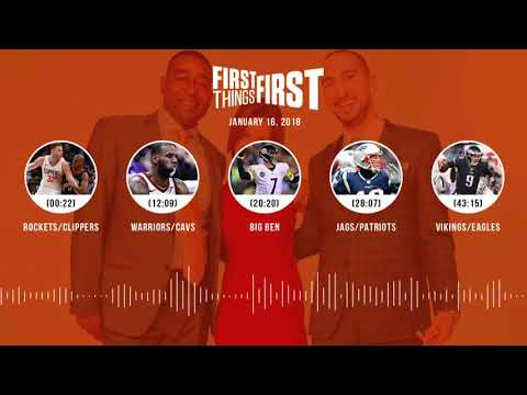 First Things First audio podcast(1.16.18)Cris Carter, Nick Wright, Jenna Wolfe | FIRST THINGS FIRST