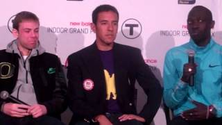 Galen Rupp, Nick Willis, Leo Manzano and Lopez Lomong talk at 2014 NBIGP Press Conference
