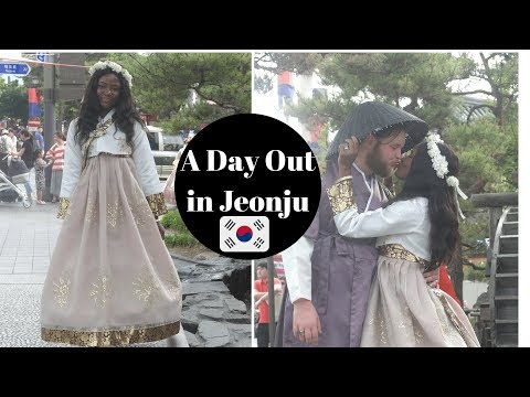 Korea Vlog | Black korean princess | A day out in Jeonju