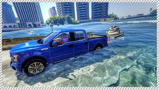 Gta 5 real life mod #23 - riding jet ski in hurricane | rescuing stranded people from huge hurricane