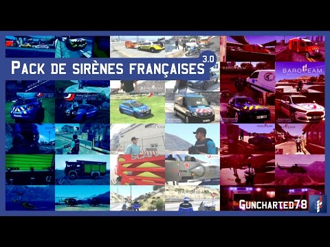 GTA 5 - Pack De Sirènes Françaises 3.0 / Vidéo Officielle (Mod)