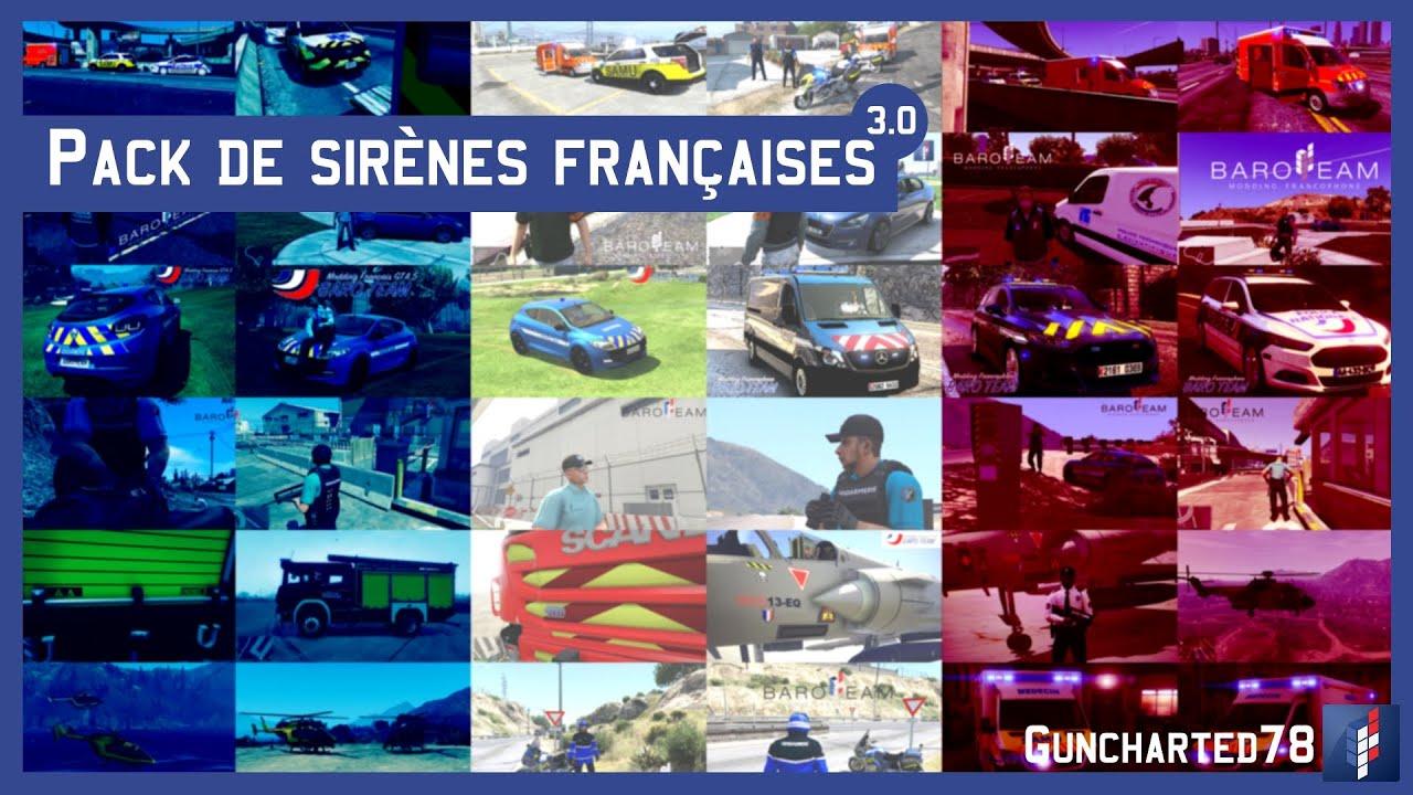 Pack de sirènes françaises / French Sirens Pack v3 0