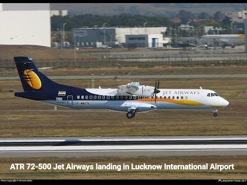 ATR 72 500 jet airways landing in Lucknow International Airport