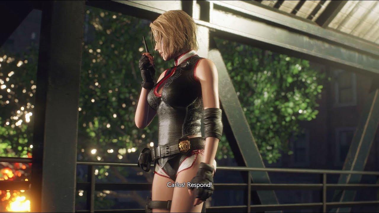 Resident Evil 3 Jill Valentine Gameplay Cheongsam Collar Cap-Sleeve Crop Top Qipao Style - New Rare