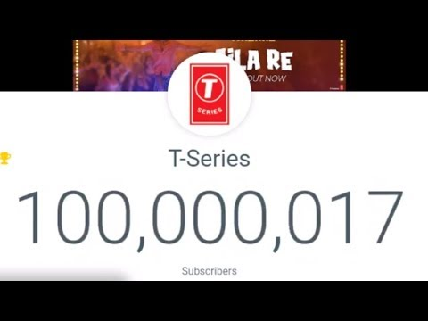 the moment T-Series hit 100000000 subscribers