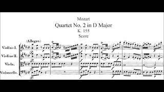 Mozart String Quartet #2 K.155 (Full Score)