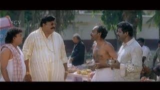 Begger Biradar Scold Doddanna & Sadhu Kokila | Kannada Movie Comedy Video Scenes