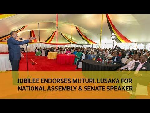 Jubilee endorses Muturi, Lusaka for National Assembly & Senate speaker