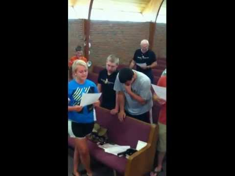 CHUMC Panama Mission team practicing 1st praise song  Jun 3, 2012