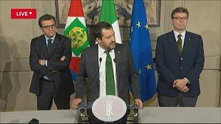 Governo, Salvini: ''Al centro l'interesse dell'Italia. Non vediamo l'ora di partire''