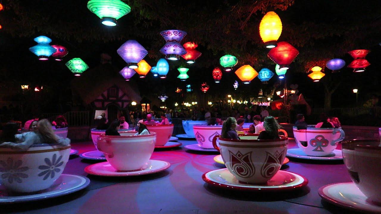 Mad Tea Party Disneyland Full Ride Canon G7x Night Test