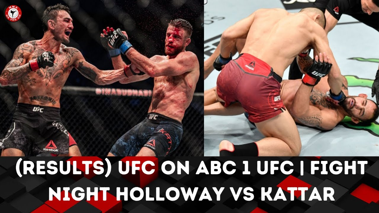 Max Holloway defeats Calvin Kattar in one-sided UFC main event