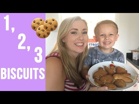 EASY 3 INGREDIENT BISCUITS - BAKING WITH KIDS COOKIE BISCUITS