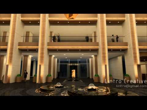 Bank of Ningbo headquarters interior design animation