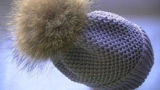 Вяжем осеннюю шапку спицами