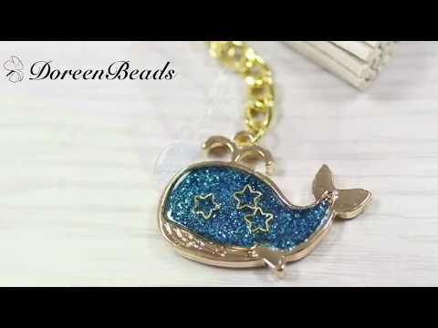 DoreenBeads Jewelry Making Video Tutorial - How to Make Pretty Resin Fish White Tassel Earrings