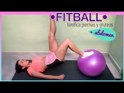 Ejercicios para tonificar piernas glúteos y abdomen con Fitball // Principiantes