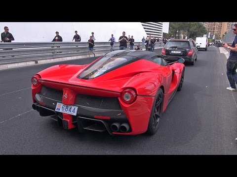 Ferrari LaFerrari - Amazing Accelerations in Monaco!