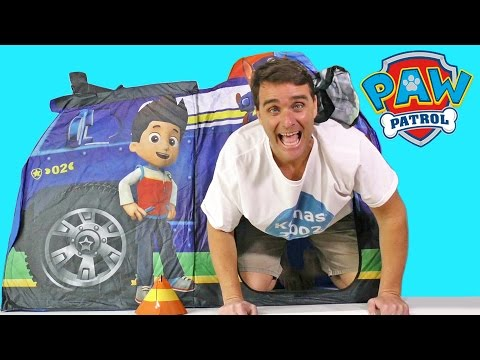 huge selection of 95d95 b4e79 Paw Patrol Chase Police Truck Playhouse ! || Toy Reviews || Konas2002