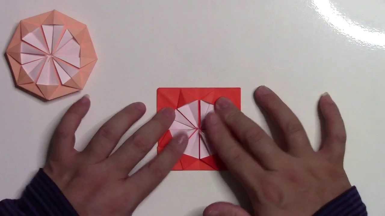 【折り紙 折り方】簡単なダリアの花の作り方動画