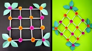 Easy and Simple Paper Wall Hanging Home Decorations : DIY Paper Flower Crafts