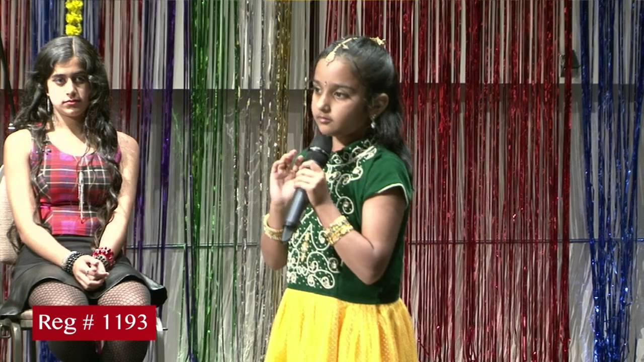 Participant Reg# 1193 singing for Texas Star Kalakaar Title  on Saturday, June 4, 2016