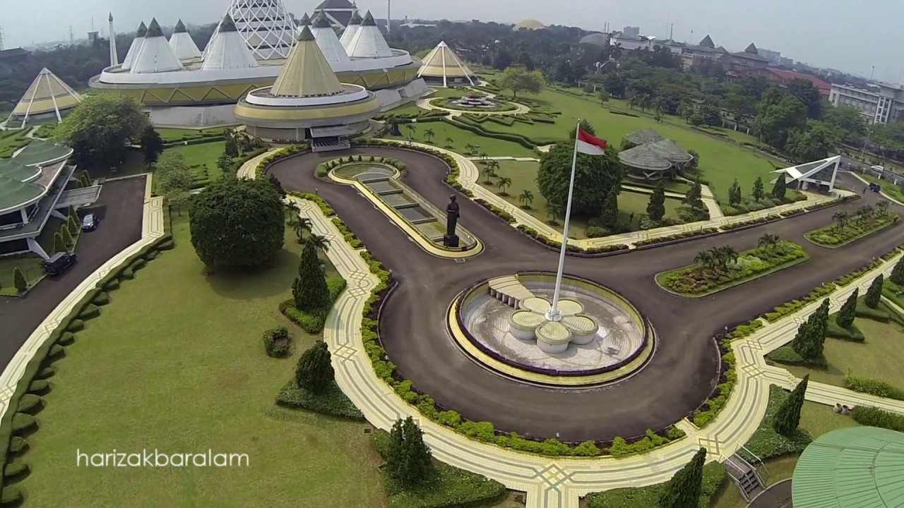 Drone Dji Phantom Taman Mini Indonesia Indah Tmii Beautiful Of