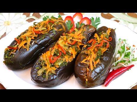 Квашеные баклажаны, фаршированные овощами на зиму и не только, рецепт без уксуса