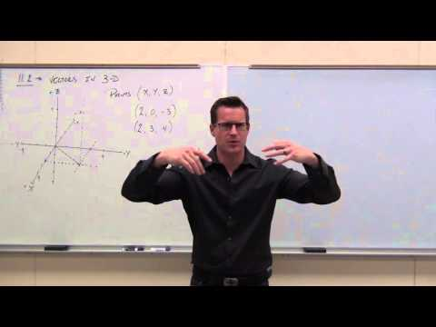Calculus 3 Lecture 11.2:  Vectors in 3-D Coordinate System