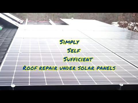 roof repair under solar panels
