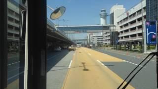 羽田京急バス前面展望 羽田空港ターミナル間無料連絡バス大循環