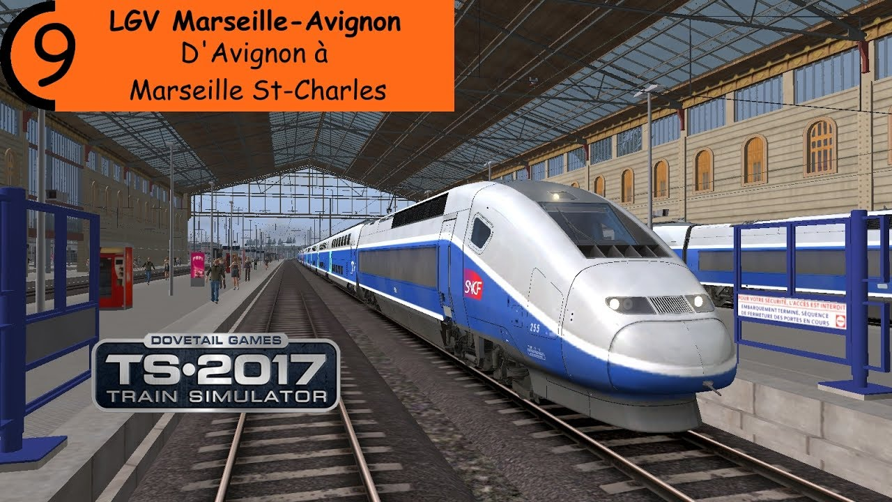 train simulator 2017 lgv marseille avignon d 39 avignon marseille st charles en tgv duplex. Black Bedroom Furniture Sets. Home Design Ideas