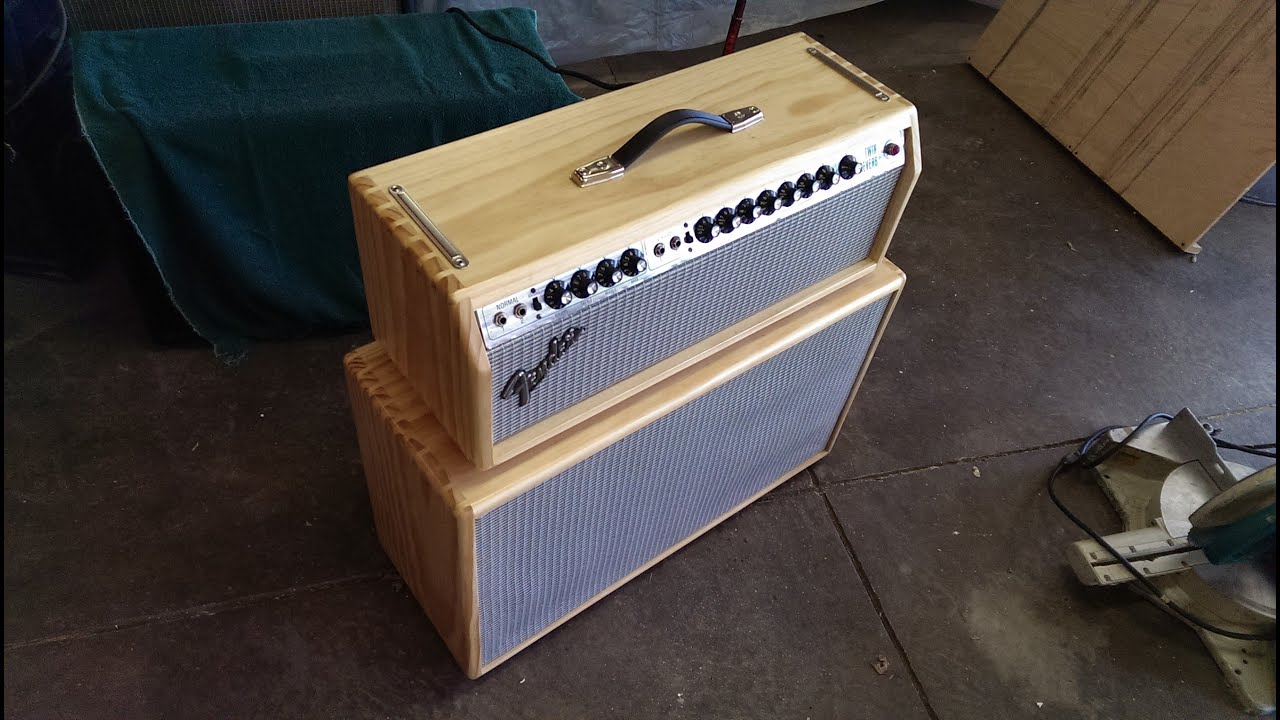 How To Build A Solid Pine Head For Fender Twin Reverb With Dovetails You