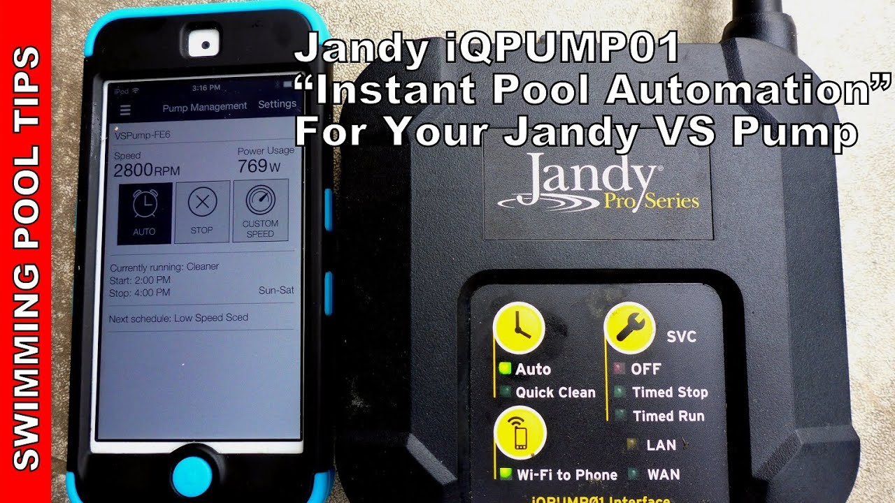 Jandy Iqpump01 Instant Pump Automation For Your Variable Sd
