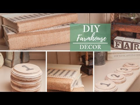 Farmhouse Decor DIY | Dollar Tree Book Transformation
