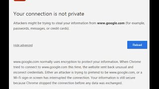 """How To Fix Net::err Cert Date Invalid Privacy Error """"your Connection Is Not Private"""" Google Chrome"""
