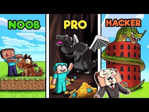 Minecraft - DRAGON BASE CHALLENGE! (NOOB vs PRO vs HACKER)