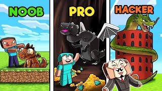 Minecraft - DRAGON BASE CHALLENGE! (NOOB vs PRO vs HACKER)