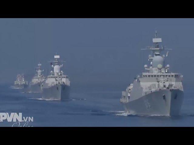 Tàu hộ vệ Gepard mới nhất của Việt Nam lần đầu huấn luyện trên biển