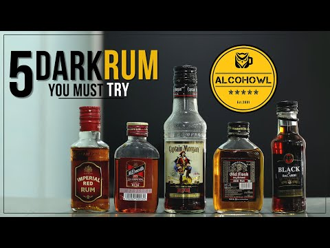 Top 5 Dark Rum You Must Try | Old Monk | Captain Morgan | Bacardi Black